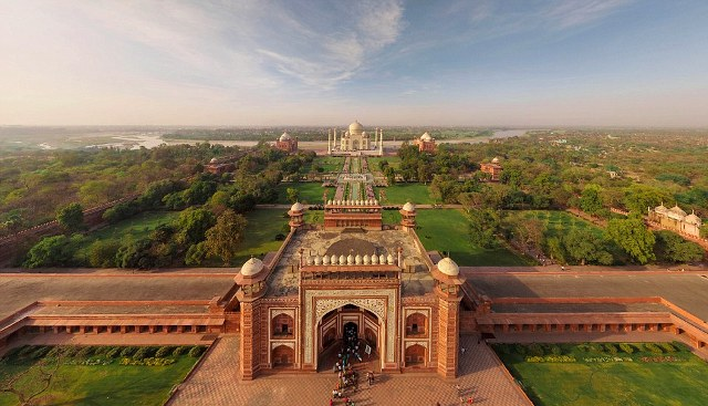 Image result for tajmahal helicopter view